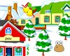 Pou decorated winter game