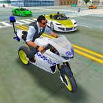 Polícia Crime City Simulator Policajné auto jazdy hra