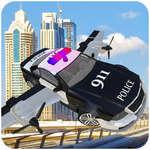 Simulador de coche volador de la policía juego
