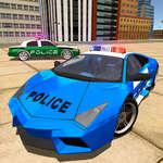 Полицейски дрейф кола шофиране каскадьор игра