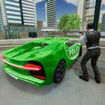 La policía persigue al conductor del coche real del policía juego