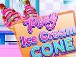 Cono de helado de pony juego