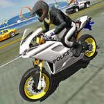 Полицейски мотоциклет трафик ездач игра