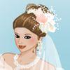 Jolie robe de mariée vers le haut jeu