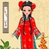 Chica bonita de estilo chino juego