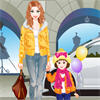 Jolie maman et son enfant Dress Up jeu