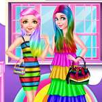 Princess Rainbow Look game