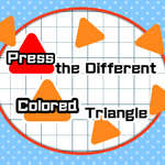 Press the different Colored Triangle game