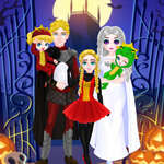 Princess Familie Costum de Halloween joc