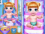 Prinzessin Neugeboren Zwillinge BabyPflege Spiel
