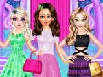 Принцеси различен стил обличане мода игра