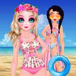 Бански костюми принцеса Кавай игра