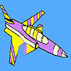 Purple jet coloring game