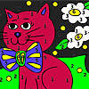 Pussy bow tie coloring game