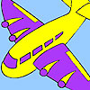 Purple wing aircraft coloring game