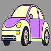 Purple old model car coloring game