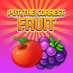 Поставете правилния плод игра