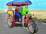 Nyilvános tricikli riksa vezetés játék