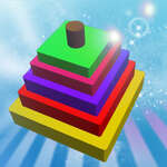 Piramis torony puzzle játék