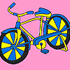 Racing bike coloring game