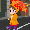 Rain Girl Dress Up game