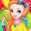 Fată curcubeu cu Lollipop joc