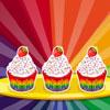Regenbogen-Muffins Spiel