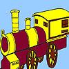 Rattletrap dorp trein kleurplaat spel