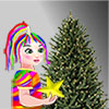 Rainbow Girl Chrismas Tree Decoration game