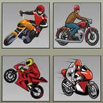 Racing motorkerékpárok memória játék