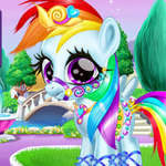 Rainbow Pony Caring game