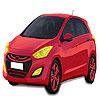 Para colorear de coches de Hyundai rojo juego