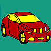 Red longer car coloring game