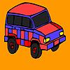 Colorante de jeep roşie de munte joc