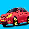 Červená holding auto sfarbenie hra