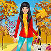 Red coat girl dress up game