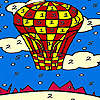 Red flying balloon coloring game