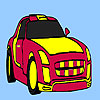 Red racing car coloring game