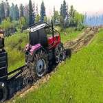 Real Cadena Tractor Remolque Tren Simulador juego