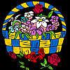 игра Розы в горшок окраски