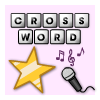 Rock en Pop muziek snel Crosswords spel
