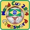 Samba Brasil de futbol mundial Copa Crucigrama juego