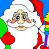 Kerstman kleuren spel