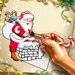 Santa Christmas Coloring game