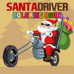 Santa Driver Coloring Book game