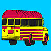 School bus parking para colorear juego