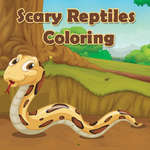 Scary Reptiles Coloring game