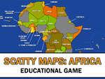 Scatty Mapy Afrika hra