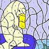 Морска мечка и риби оцветяване игра
