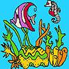Algas marinas para colorear juego